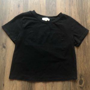 Black Crop Top excellent conditions pre owned